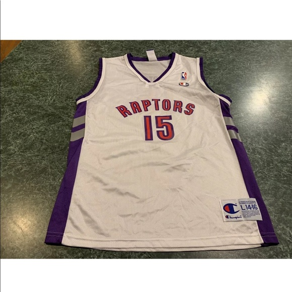 wholesale dealer 437f3 e40df Champion Vince Carter Raptors Jersey Youth Large